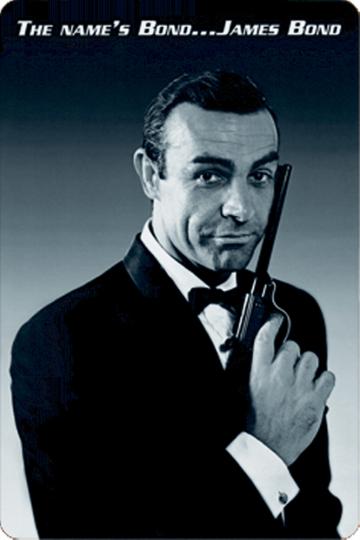 Blechschild James Bond Sean Connery