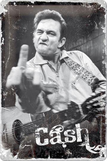 Blechschild Johnny Cash Finger