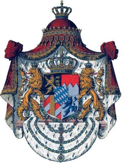 Blechschild Königreich Bayern 20 x 30 cm