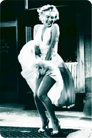 Blechschild Marilyn Monroe