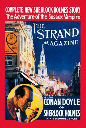 Blechschild Sherlock Holmes Strand Magazine