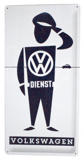 Blechschild VW Dienst