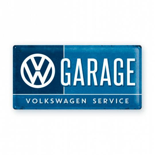 Blechschild VW Garage