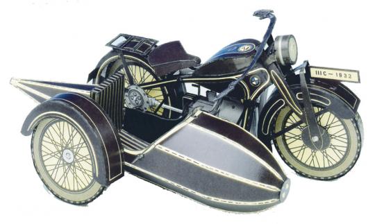 BMW Motorrad R16 - Bausatz aus Karton