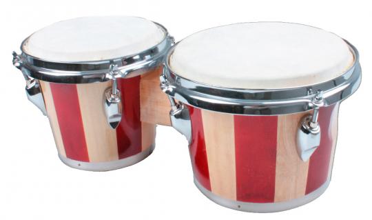 Bongos mit zwei Trommeln.
