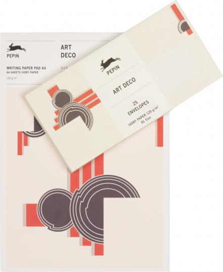 Briefpapierblock »Art déco«, DIN A4. Mit Umschlägen.
