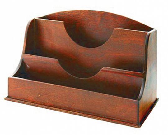 Briefständer aus Echtholz