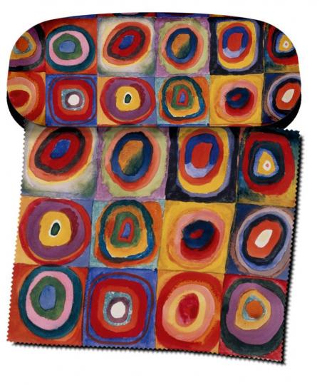 Brillenetui Wassily Kandinsky »Farbstudie Quadrate«.