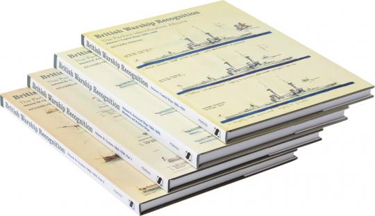 British Warship Recognition. Paket. 4 Bände.