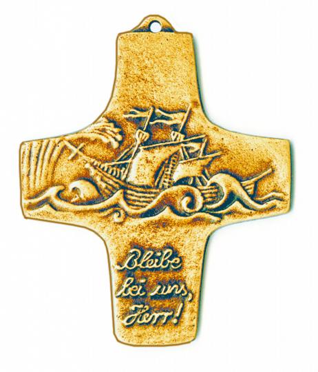 Bronzekreuz 'Bleibe bei uns, Herr!'