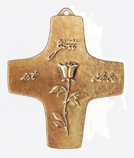 Bronzekreuz 'Gott ist Liebe'