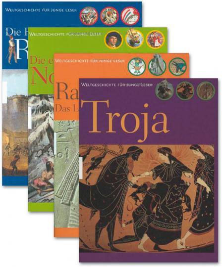 Buchpaket Weltgeschichte für Kinder. 4 Bände.