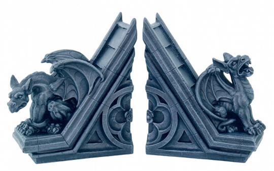 Buchstützen »Gargoyles«.