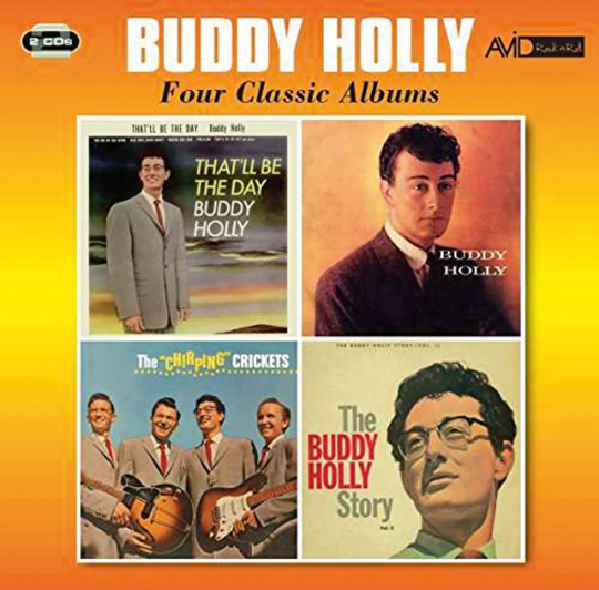 Buddy Holly. Four Classic Albums, 2 CDs.