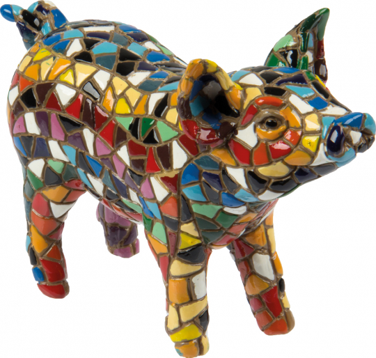 Buntes Mosaik-Schwein.