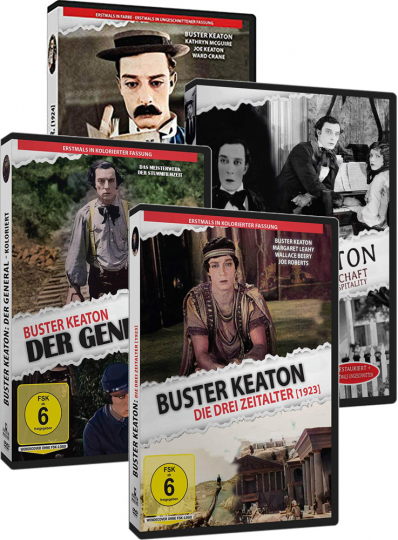 Buster Keaton in Farbe - Exklusive Edition. 4 DVDs.