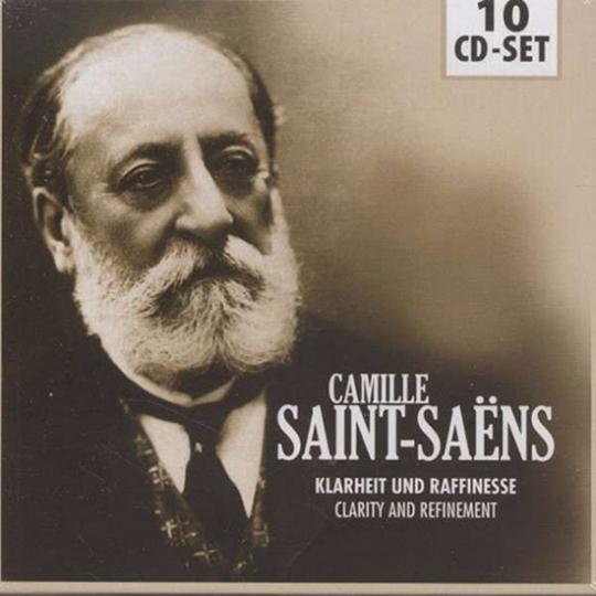 Camille Saint-Saëns. Klarheit und Raffinesse. 10 CDs.