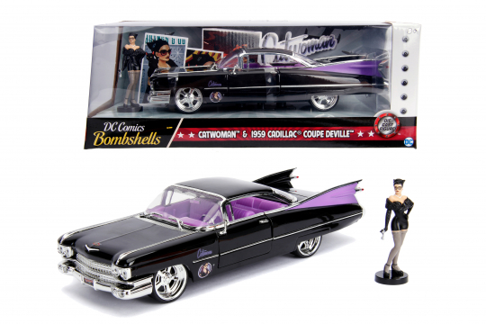 Cadillac mit Catwoman-Figurine. Modell 1959.