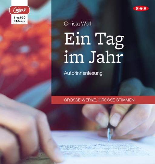 Christa Wolf. Ein Tag im Jahr. Hörbuch. 1 mp3-CD.