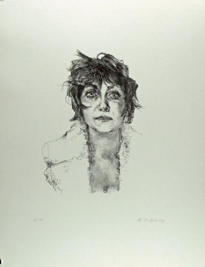 Christoph Wetzel. En face. Lithografie.
