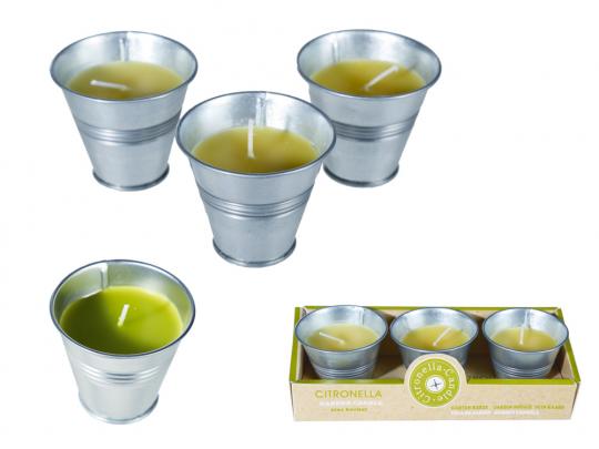 Citronella-Kerzen im 3er-Set.