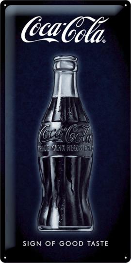 Blechschild »Coca Cola - Design of a good taste«.