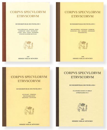 Corpus Speculorum Etruscorum Band 1-4 im Set.