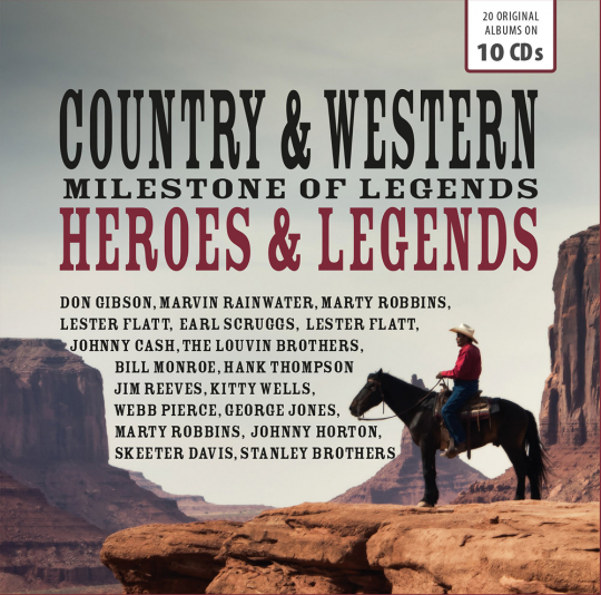 Country & Western. Heroes & Legends. 10 CDs.