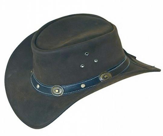 Cowboyhut aus Echtleder - Größe L
