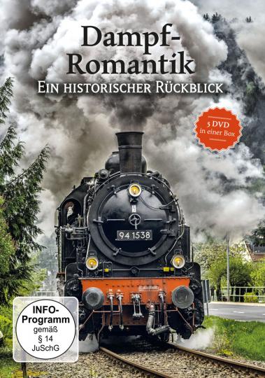Dampf-Romantik. Ein historischer Rückblick. 5 DVD-Box.