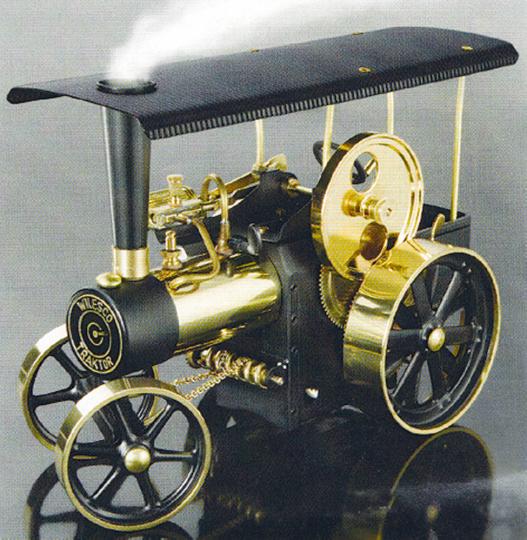 Dampftraktor (schwarz/ messing)