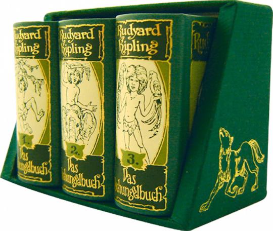Das Dschungelbuch 3 Bände im Schmuckkassette - Leder-Mini-Ausgabe