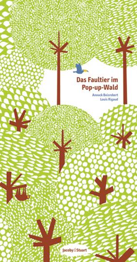 Das Faultier im Pop-up-Wald.