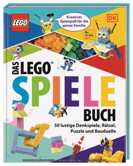 Das Lego-Spiele-Buch. 50 lustige Denkspiele, Rätsel, Puzzle und Bauduelle.
