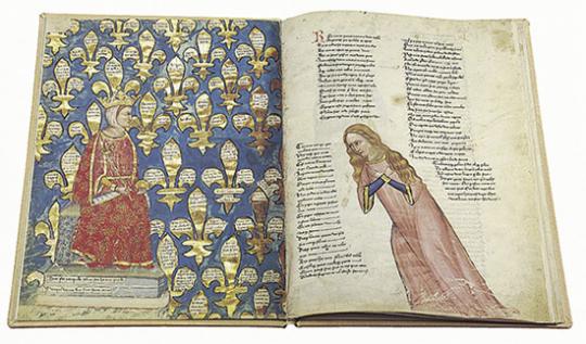 Das Lobgedicht auf König Robert von Anjou.