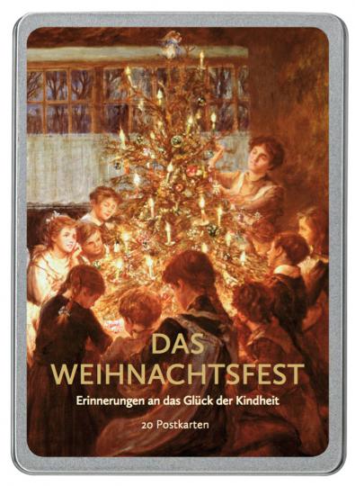 Das Weihnachtsfest. Erinnerungen an das Glück der Kindheit. 20 Postkarten.