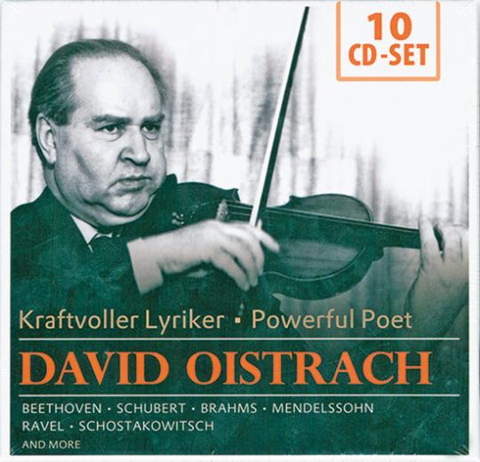 David Oistrach - Kraftvoller Lyriker. Beethoven - Schubert - Brahms.