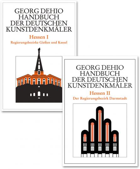 Dehio - Handbuch der deutschen Kunstdenkmäler. Hessen Bd. 1 Regierungsbezirke Gießen und Kassel. Bd. 2 Der Regierungsbezirk Darmstadt.