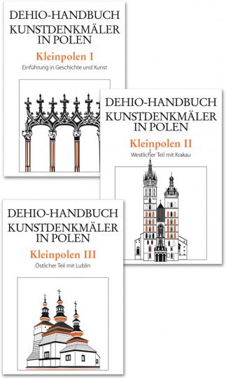 Dehio Handbuch der Kunstdenkmäler in Polen. Kleinpolen Bd. 1-3. Bd. 1. Einführung in Geschichte und Kunst. Bd. 2. Westlicher Teil mit Krakau. Bd. 3. Östlicher Teil mit Lublin.