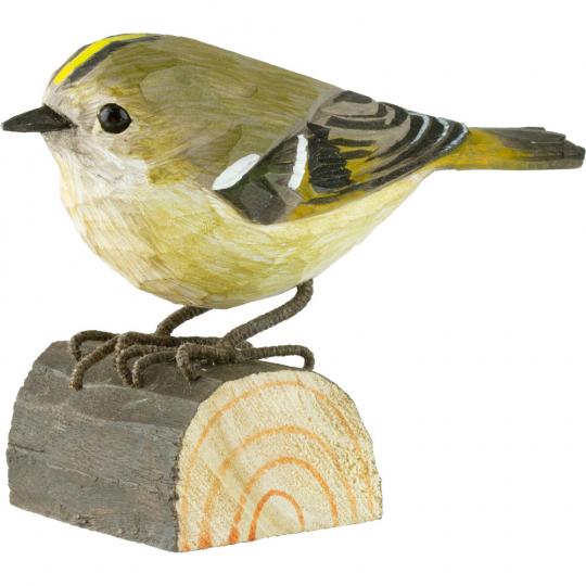 Deko-Vogel Wintergoldhähnchen.