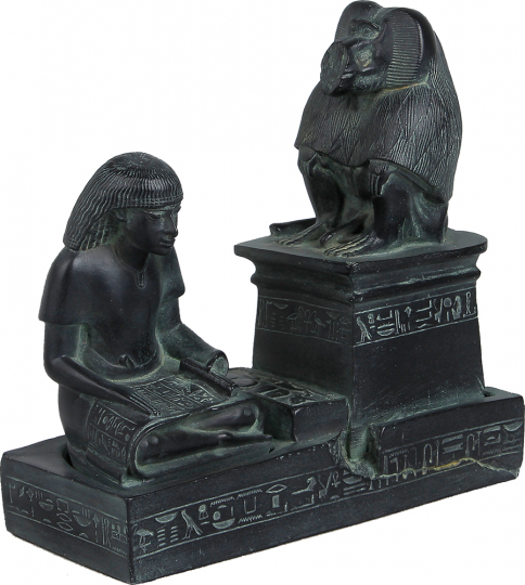 Der königliche Schreiber Nebmeroutef und Gott Thôt, 1370 v. Chr.