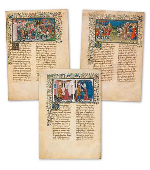 Der Pariser Alexanderroman, ca. 1420/25. Faksimile. Dokumentationsmappe.