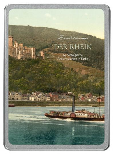 Der Rhein. Zeitreise. 14 nostalgische Ansichtskarten in Farbe.