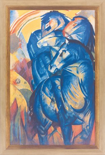 Der Turm der blauen Pferde, Franz Marc (1880-1916)