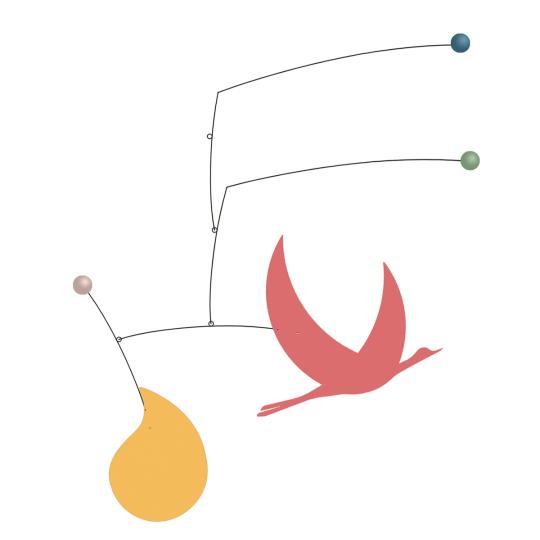 Designer-Mobile mit Kranich »Inès«.