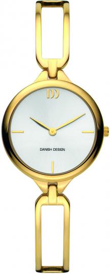 Designer Uhr für Damen aus vergoldetem Edelstahl.