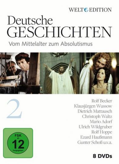 Deutsche Geschichten 2. Vom Mittelalter zum Absolutismus 8 DVDs.