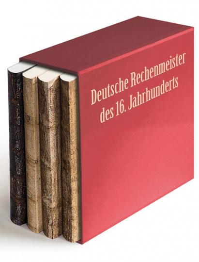 Deutsche Rechenbücher des 16. Jahrhunderts. Die faksimilierten Rechenbücher von Johannes Widmann, Adam Ries, Johann Albert und Christoph Rudolff. 4 Bände.