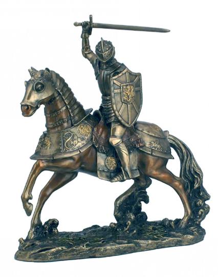 Deutscher Ritter auf Pferd - Zinnfigur