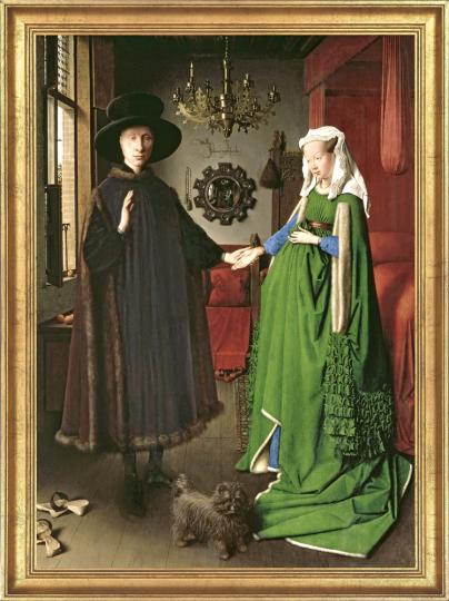 Die Arnolfini-Hochzeit. Jan van Eyck (um 1390 - 1441).